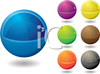Royalty Free Clipart Image of Marble Icons