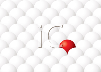 Royalty Free Clipart Image of a One Red Ball
