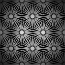 Royalty Free Clipart Image of a Black and White Flower Background