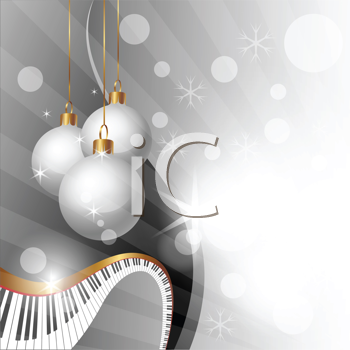 Royalty Free Clipart Image of a Musical Christmas Background