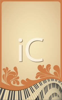 Royalty Free Clipart Image of an Old Musical Frame