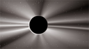 Royalty Free Clipart Image of a Solar Eclipse