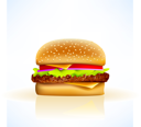 Royalty Free Clipart Image of a Burger