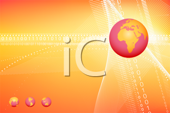 Royalty Free Clipart Image of Globes on a Background