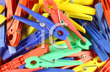 Royalty Free Photo of a Plastic Clothespin Background
