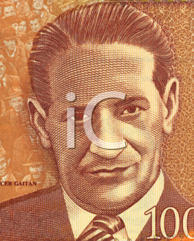 Royalty Free Photo of Jorge Eliecer Gaitan (1903-1948) on 1000 Pesos 2006 Banknote from Colombia. Politician and leader of a populist  movement in Colombia.