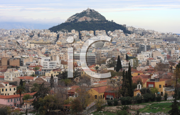 Royalty Free Photo of Lycabettus Hill, Athens, Greece