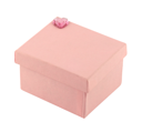 Royalty Free Photo of a Pink Gift Box With a Diamond Heart