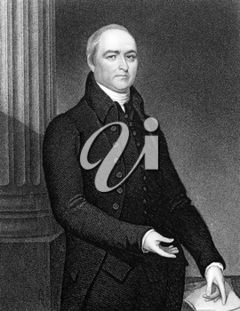 Timothy Dwight IV (1752-1817) on engraving from 1834. American academic and educator, a Congregationalist minister, theologian and author. Engraved by J.B Forrest and published in ''National Portrait