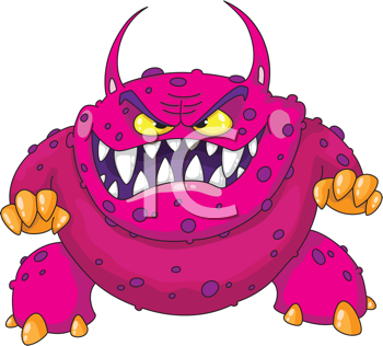 Royalty Free Photo of an Angry Monster