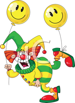 illustration of a funny clown