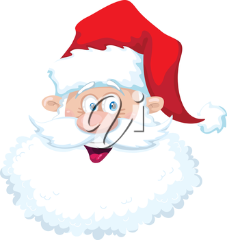 illustration of a smile santa head
