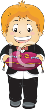 Royalty Free Clipart Image of a Ring Bearer