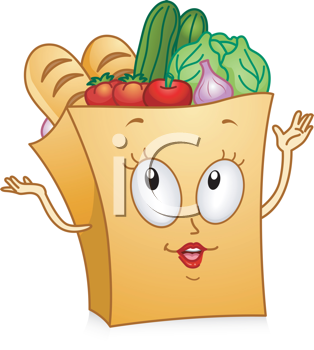 Royalty Free Clipart Image of a Grocery Bag