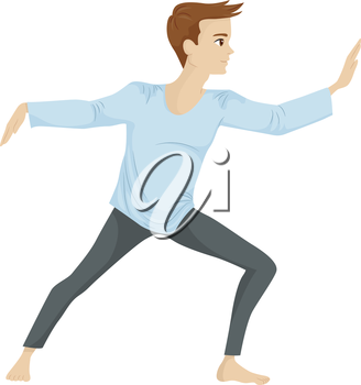 Illustration of a Guy Doing Some Tai Chi Exercises