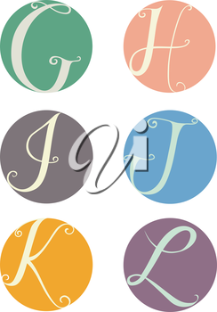 Text Illustration Featuring Labels Bearing the Letters of the Alphabet