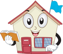 Mascot Illustration of a School Holding a Book