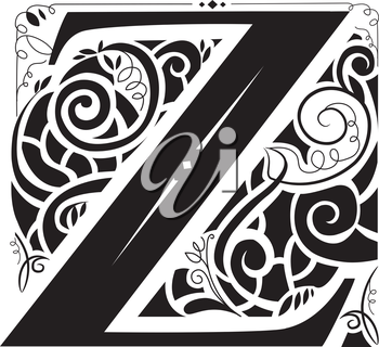 Illustration of a Vintage Monogram Featuring the Letter Z