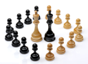 Royalty Free Photo of a Pawns Circling the Queen