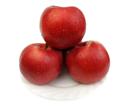 Royalty Free Photo of Red Apples on a White Plate