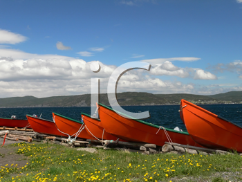 Royalty Free Photo of Red Boats