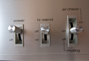 Royalty Free Photo of a Radio Receiver Switches