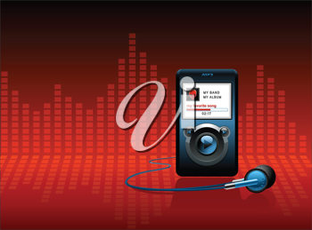 Royalty Free Clipart Image of an MP3 Player