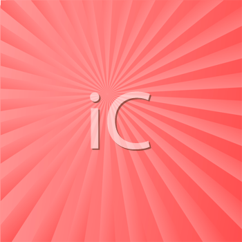 Royalty Free Clipart Image of a Radiant Background in Coral