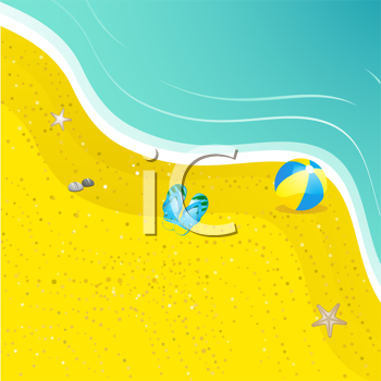 Royalty Free Clipart Image of a Beach