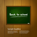 Royalty Free Clipart Image of a Blackboard on Wood