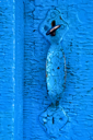 Royalty Free Photo of an Old Cracked the Door