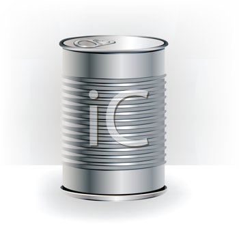 Royalty Free Clipart Image of a Can