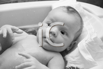 Royalty Free Photo of a Baby in a Bath