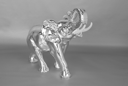 Royalty Free Photo of a Silver Elephant