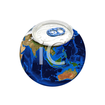 Royalty Free Photo of Planet Earth as an Aluminum Can