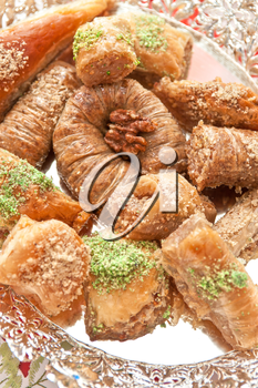 Turkish sweet delight dessert baklava