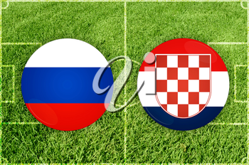 Illustration for Football match Russia vs Croatia