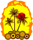 Royalty Free Clipart Image of Palm Trees