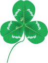 Royalty Free Clipart Image of a Clover