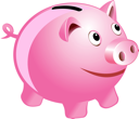 Royalty Free Clipart Image of a Piggy Bank