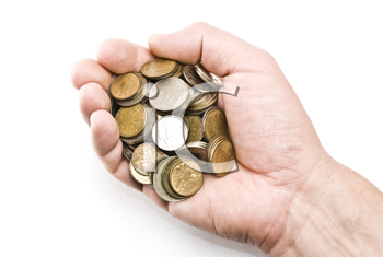 Royalty Free Photo of a Handful of Coins