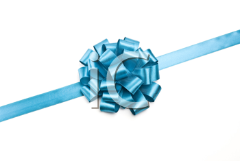 Royalty Free Photo of Blue Ribbons and Bow