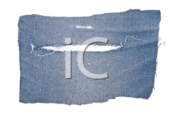 Royalty Free Photo of a Part of Blue Jeans