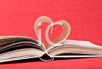 Royalty Free Photo of a Heart From Book Pages
