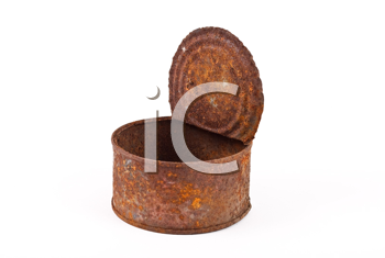 Royalty Free Photo of a Rusty Can