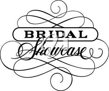 Royalty Free Clipart Image of a Bridal Showcase Design