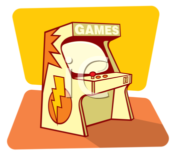 Royalty Free Clipart Image of a Video Game