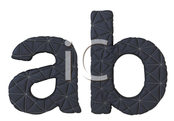 Royalty Free Clipart Image of Stitched Leather Font A and B