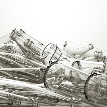 Royalty Free Clipart Image of Glass Bottles