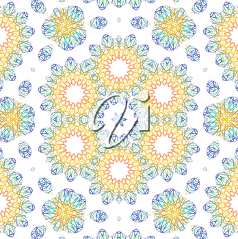 Background with abstract color pattern on white